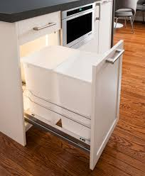 how ikea trash bin cabinets affect your kitchen design in cabinet