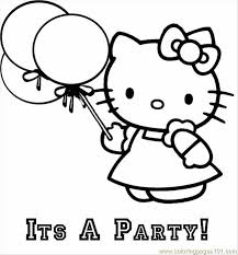 balloon coloring pages hello kitty balloon coloring page free hello kitty coloring