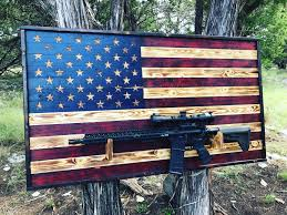 Zavala Flag Gun Rack Gun Storage Thin Blue Line Flag Gift For Him Us