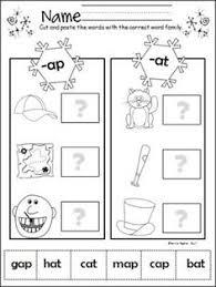 ap word family workbook for kindergarten word families