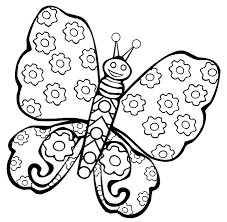 unique butterfly printable coloring pages gall 6538 unknown