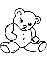outline of a teddy bear free download clip art free clip art