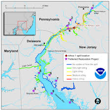 map of maryland delaware and new jersey restoration plan for delaware river announced