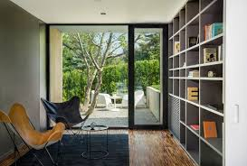modern home library interior design serene pagoda house offers panoramic city and mountain views