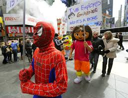 spiderman thanksgiving spider man arrest strengthens push to regulate times square