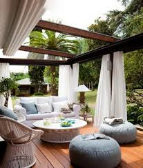 outdoor living room sets glass shelter roof and curtains outdoor living pinterest