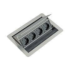 prise plan de travail cuisine bloc 4 prises rectangulaire escamotable la quincaillerie du meuble