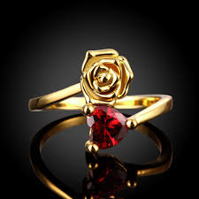 rose zircon rings images Fashion rings women classic flower gold plated rose gold plated jpeg