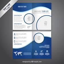 free psd brochure design templates brochure template in blue tones