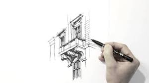 amazing architecture sketch hand drawing must watch youtube