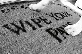 Wipe Your Paws Dog Doormat Dog Walking On Rug That Says