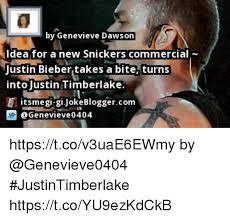Snickers Commercial Meme - by genevieve dawson dea for a new snickers commercial justin bieber