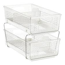2 tier cabinet organizer madesmart white 2 tier pull out cabinet organizer the container store