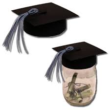 graduation cap centerpieces bits of paper jar graduation hat