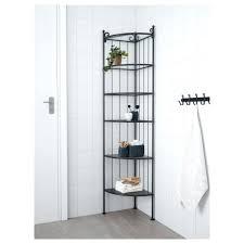 kitchen wood corner shelf unit base freestanding bamboo metal tier