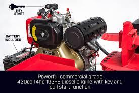 60 ton diesel electric start engine hydraulic log splitter wood