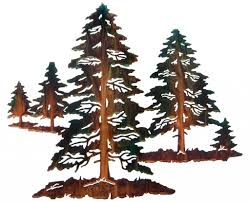 wall art ideas design sculpture design pine tree metal wall art