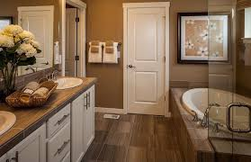 Bathroom With Stone Contemporary Master Bathroom With Stone Tile U0026 Inset Cabinets In