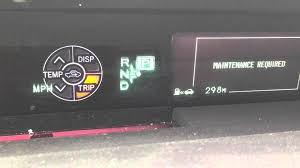 how to reset maintenance required light on 2015 toyota prius