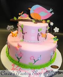 bird baby shower italian bakery fondant wedding cakes pastries and