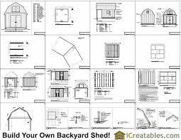 12x16 gambrel barn shed plans jump to next level