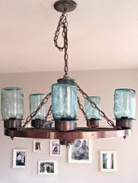 Canning Jar Lights Chandelier Mason Jar Wagon Wheel Chandelier House Pinterest Wagon