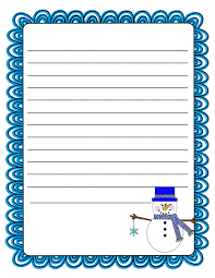 writing paper template free writing paper free christmas writing paper decorative borders literacy minute snowman writing paper bie teacher ideas kb konnected has a cute graphic for on