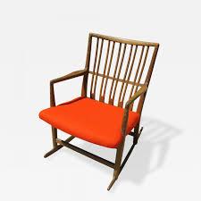 wegner swivel chair hans wegner rare early ml 33 oak rocking chair with carvings by