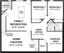 basement home plans 53 one level house plans with basement one story floor plans with