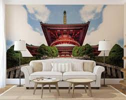 oriental chinoiserie garden wallpaper claborate style painting