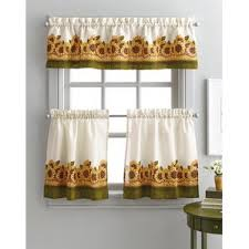 Sunflower Valance Kitchen Curtains by Floral Valances U0026 Kitchen Curtains You U0027ll Love Wayfair