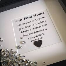 new home gift quote frame housewarming gift our first home