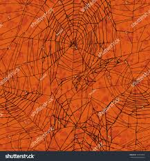 repeat halloween background orange seamless halloween pattern stock illustration 145370044