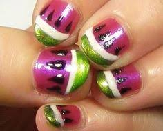 this is a really cute nail art design of monsters inc mike and