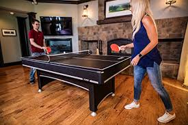 pool and ping pong table amazon com triumph phoenix 7 billiard table with table tennis