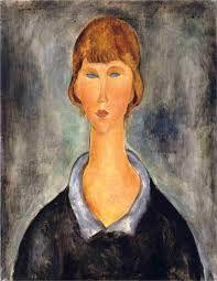 modigliani woman with a fan amedeo modigliani