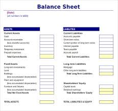 Opening Day Balance Sheet Template Balance Sheet Balance Sheet The Balance Sheet Avc Sle