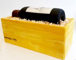custom edible images wine bottle in crate cake with custom edible wine label http