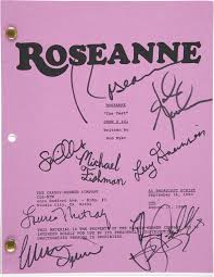 roseanne tv cast script signed cosigners autographs