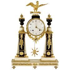 neoclassical round clock 18th century home decor antiques