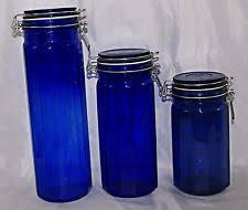 cobalt blue kitchen canisters cobalt blue canister set ebay
