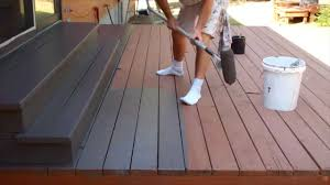 exterior painting step 9 staining the deck youtube
