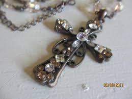 vintage cross necklace images Vintage rhinestone cross pendant necklace vintage cross necklace jpg