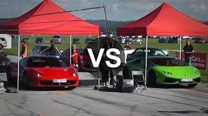 lamborghini huracan vs 458 lamborghini huracan vs 458 italia drag race draginfo