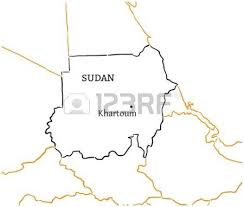 sudan country with its capital khartoum in africa hand drawn