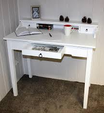Schreibtisch Holz Sekretär 100x91x57cm 1 Große 2 Kleine Schubladen Beine Ohne