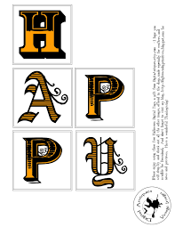 Halloween Letters Printable by Big Brown Dog Primitives