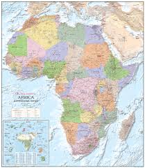 Map Poster Political Africa Map Gm Africa Africa Wall Maps