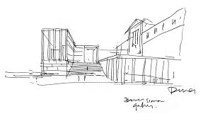 david chipperfield sketch of his new central entrance building of