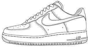 nike shoe coloring page ace images art class pinterest